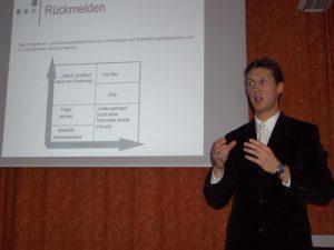Martin Emrich Präsentation von Forschungsergebnissen zum Assessment Center