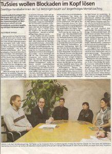 Pressebericht Mentalcoaching im Spitzensport 2008