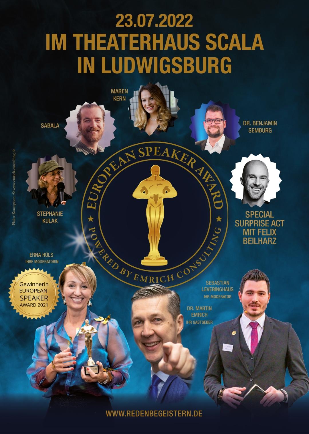 TourPlakat European Speaker Award 2022 A4 DRUCK Gross