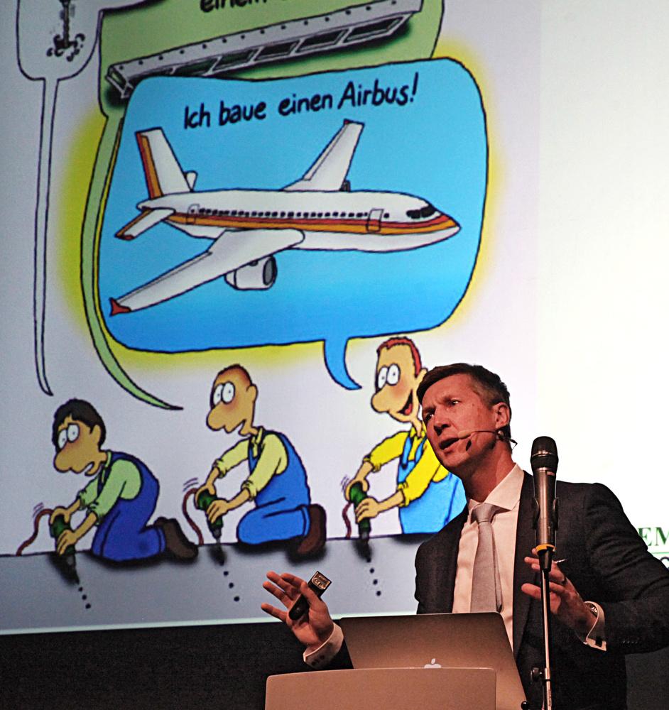 VUKA Vortrag Karikatur